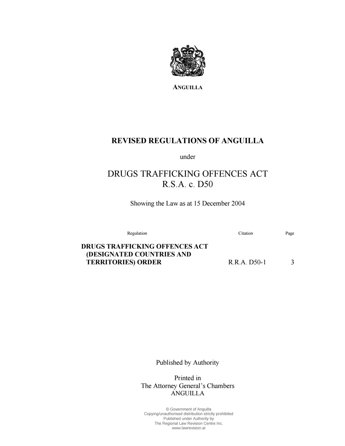 Index of /laws/D050-01-Drugs Trafficking Offences Act (Designated